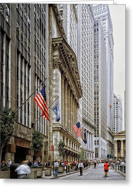 Wall Street In New York City Greeting Card