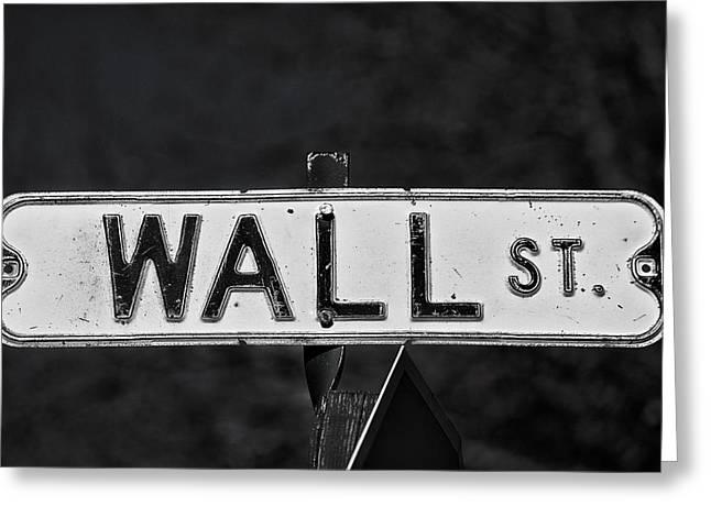 Wall Street Greeting Card by Karol Livote