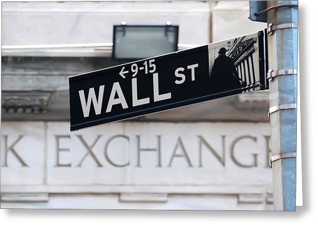 Wall Street New York Stock Exchange Greeting Card