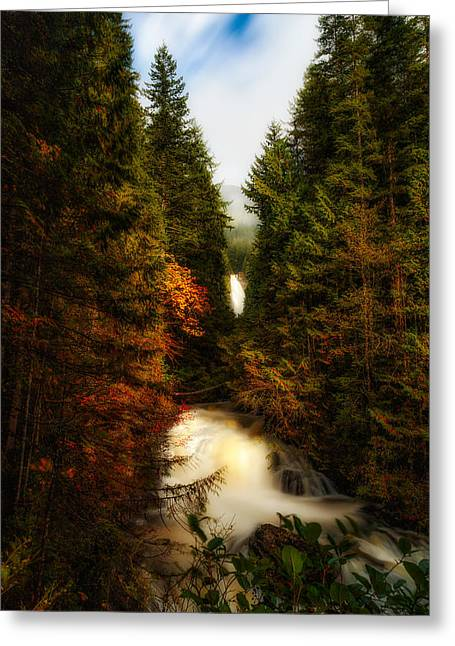 Wallace Fall North Fork Greeting Card by James Heckt