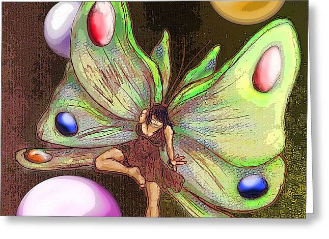 Wallflower Fairy Greeting Card by Michelle Rene Goodhew