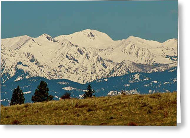 Wallowa Mountains Oregon Greeting Card by Ed  Riche