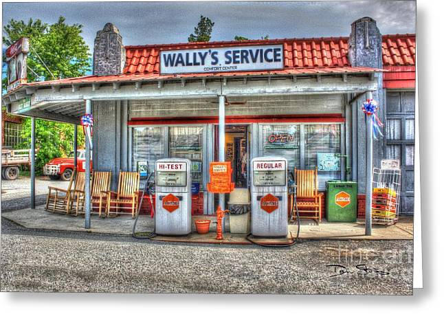 Wally's Service Station Greeting Card