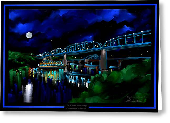 Walnut Street Bridge - Chattanooga Landmark Series - # 1 Greeting Card