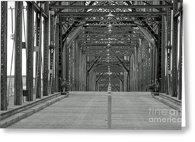 Greeting Card featuring the photograph Walnut Street Bridge by Geraldine DeBoer
