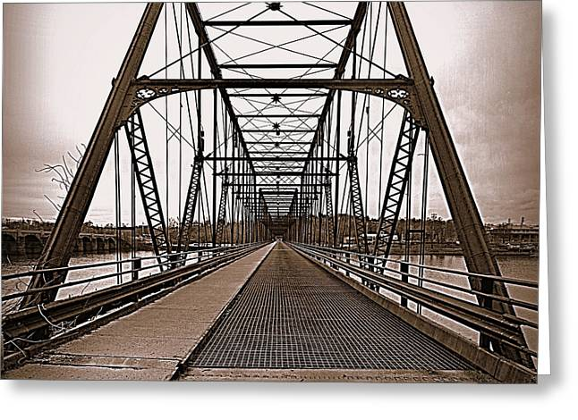 Walnut Street Bridge Greeting Card by Joseph Skompski