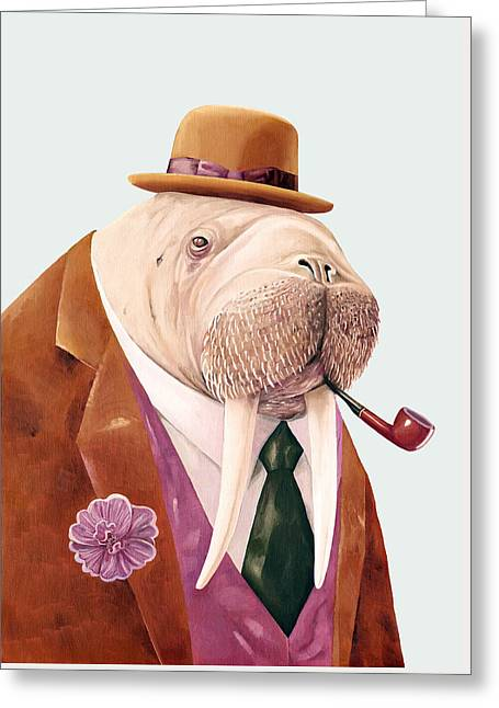 Walrus Greeting Card by Animal Crew