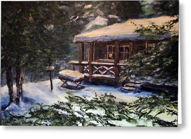 Walsh Cabin On Cranberry Lake Greeting Card