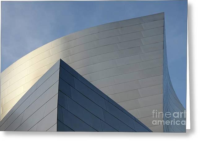 Walt Disney Concert Hall 3 Greeting Card by Bob Christopher