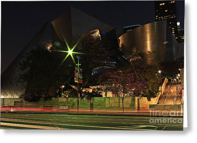 Walt Disney Concert Hall  Greeting Card by Kevin Ashley