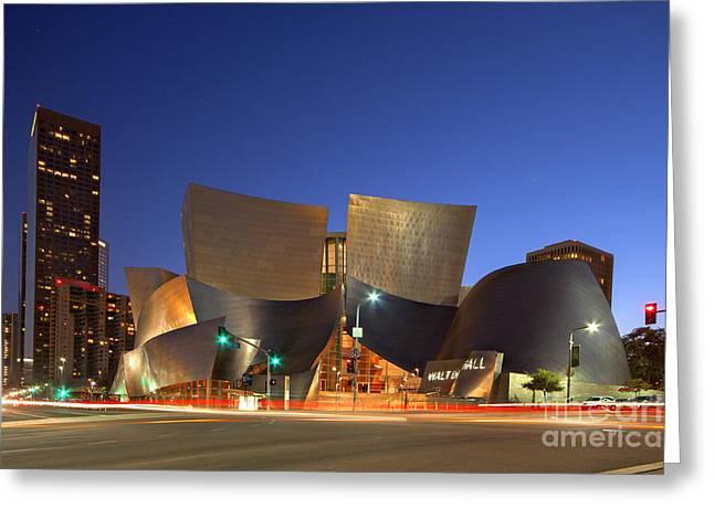 Walt Disney Concert Hall Greeting Card by Shishir Sathe