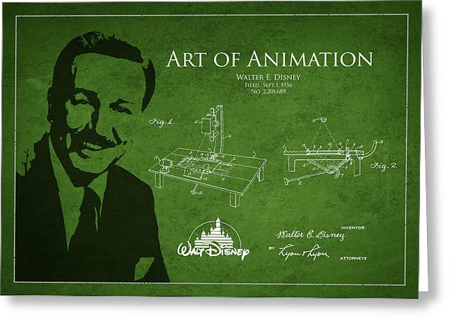 Walt Disney Patent From 1936 Greeting Card by Aged Pixel