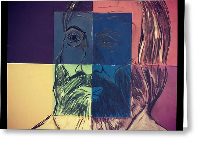 Walt Whitman In Color Greeting Card by Nickolas Kossup