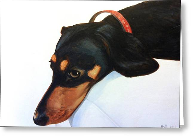 Walter - Waiting For Momma Greeting Card by Kevin Hill