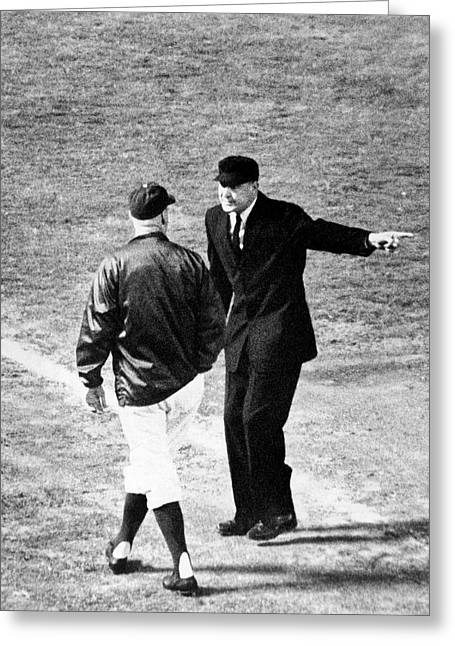 Walter Alston Ejected Greeting Card by Underwood Archives