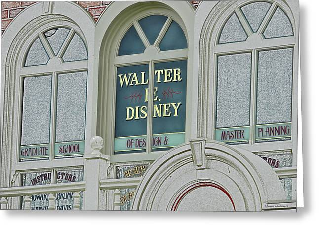 Orlando Magic Digital Art Greeting Cards - Walter E Disney Window Signage Digital Art Greeting Card by Thomas Woolworth