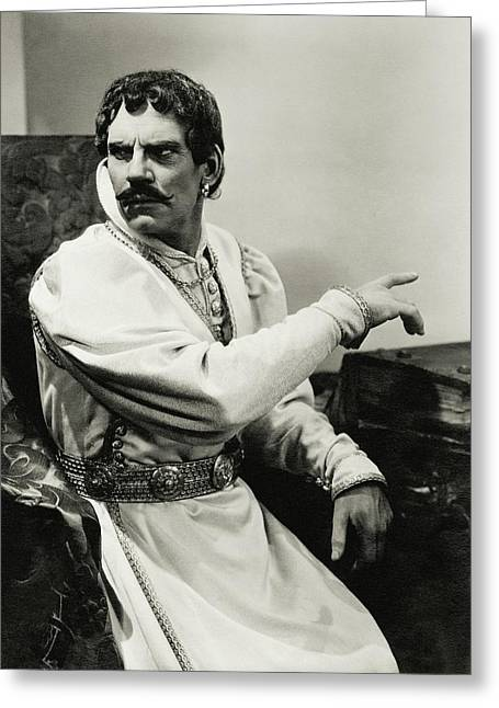 Walter Huston As Othello Greeting Card by Lusha Nelson