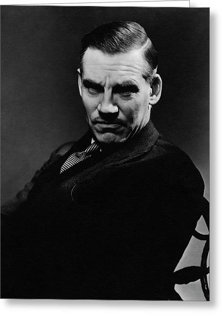 Walter Huston Scowling Greeting Card by Lusha Nelson