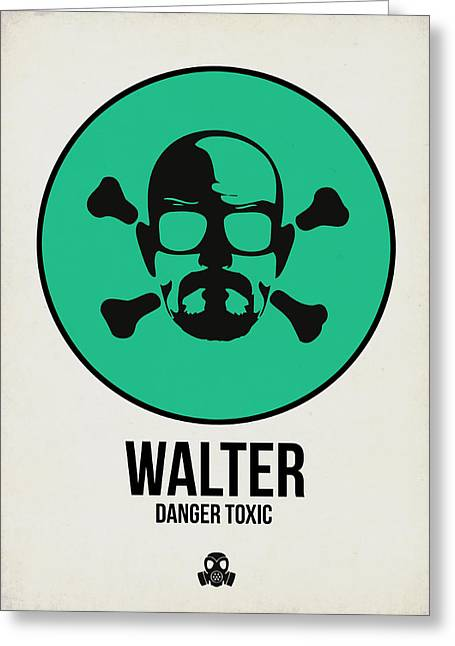 Walter Poster 1 Greeting Card by Naxart Studio