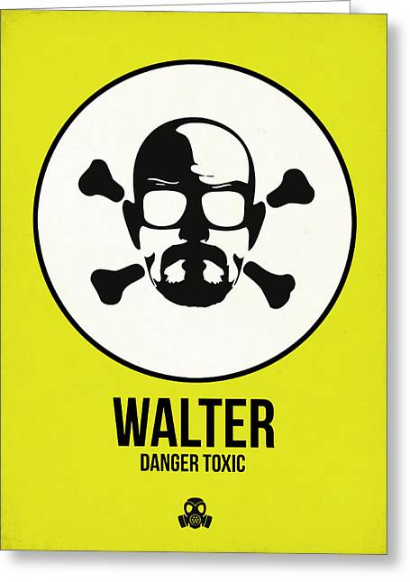 Walter Poster 2 Greeting Card by Naxart Studio