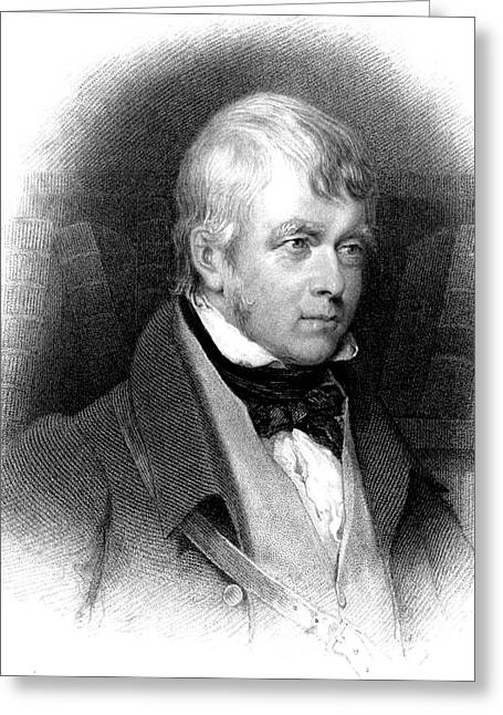 Walter Scott Greeting Card by Collection Abecasis