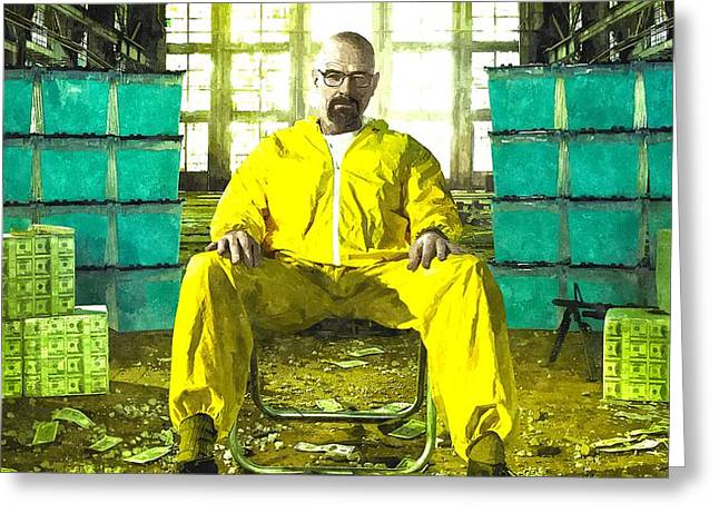 Walter White As Heisenberg Painting Greeting Card