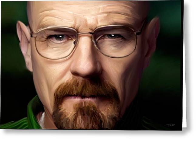 Walter White - Color Greeting Card by Paul Tagliamonte