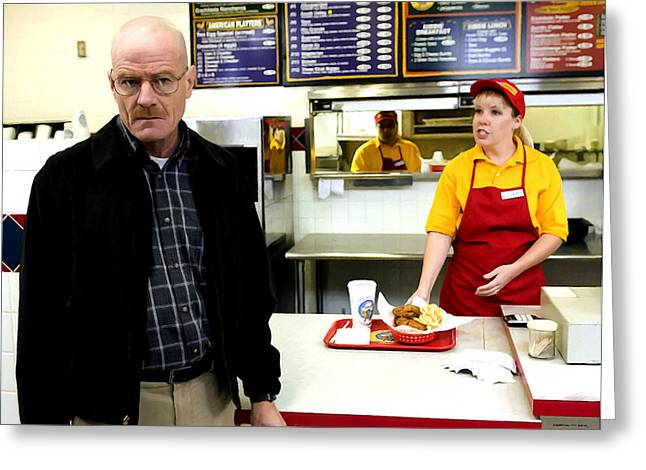 Walter White In Pollos Hermanos @ Breaking Bad Greeting Card