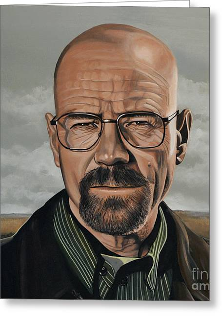 Hank Aaron Greeting Cards - Walter White Greeting Card by Paul  Meijering
