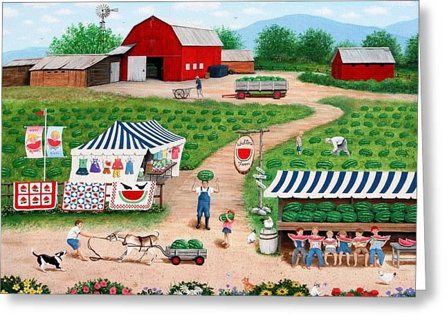 Walter's Watermelons Greeting Card