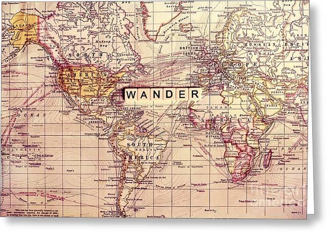 Wander Greeting Card by Sylvia Cook