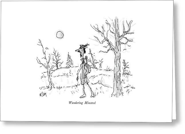 Wandering Minstrel Greeting Card