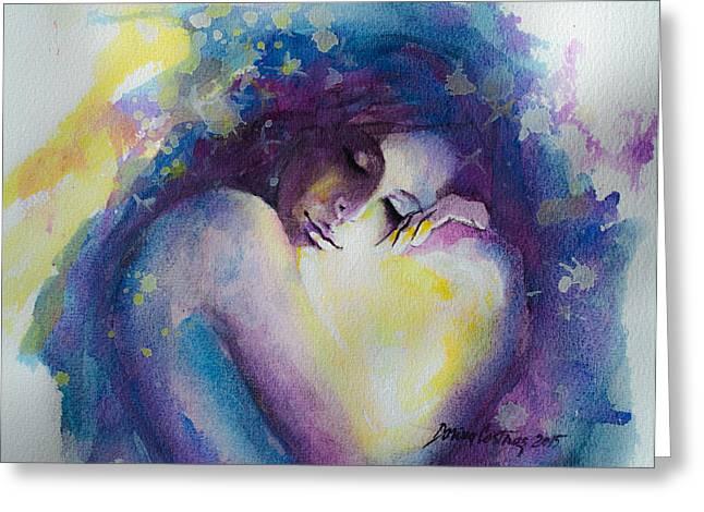 Wandering Through Dreams Greeting Card by Dorina  Costras