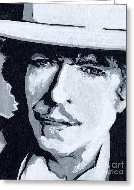Wandering Troubadour - Bob Dylan Greeting Card