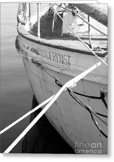Wanderlust Black And White Greeting Card by Amanda Barcon