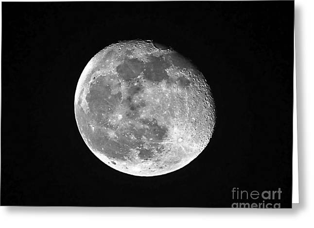 Waning Pink Moon Greeting Card by Al Powell Photography USA