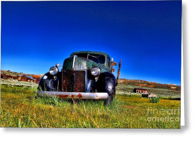Wanna Ride - Bodie Ghost Town By Diana Sainz Greeting Card