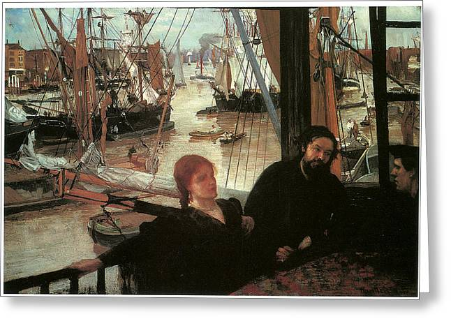Wapping Greeting Card by James Abbott McNeill Whistler