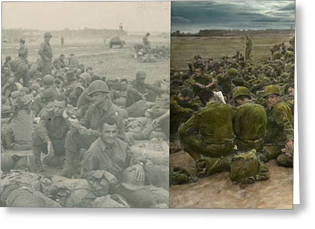War - A Thousand Stories - Side By Side Greeting Card by Mike Savad