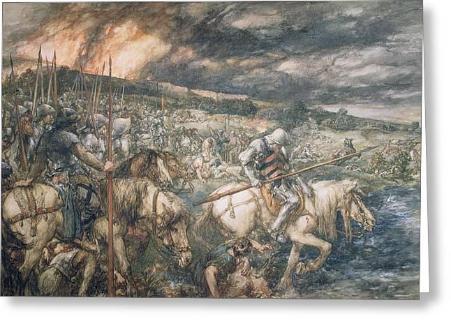 War  After The Battle Greeting Card by Sir John Gilbert