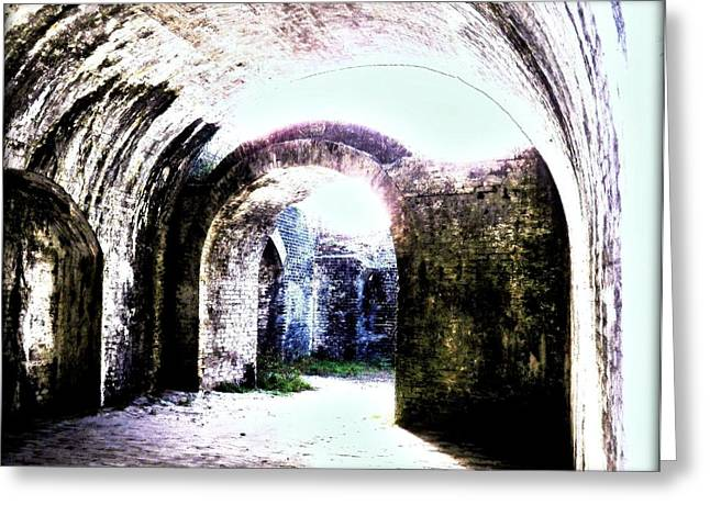 War At Fort Pickens Greeting Card