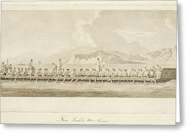 War Canoe Of New Zealand Greeting Card