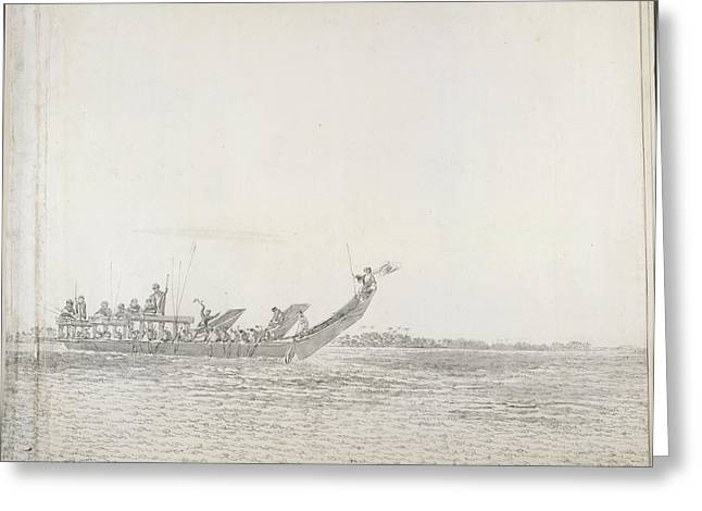 War Canoe Of Tahiti Greeting Card
