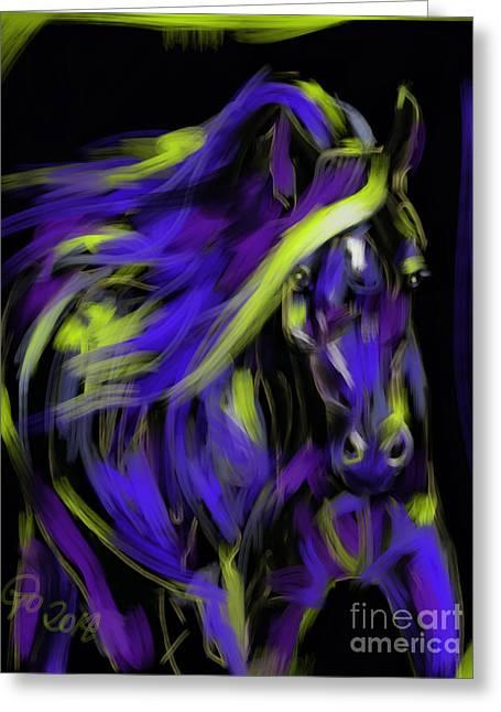 War Horse Greeting Card by Go Van Kampen