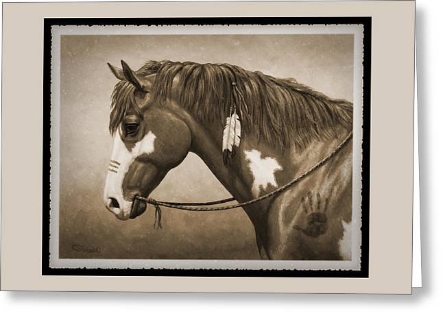 War Horse Old Photo Fx Greeting Card