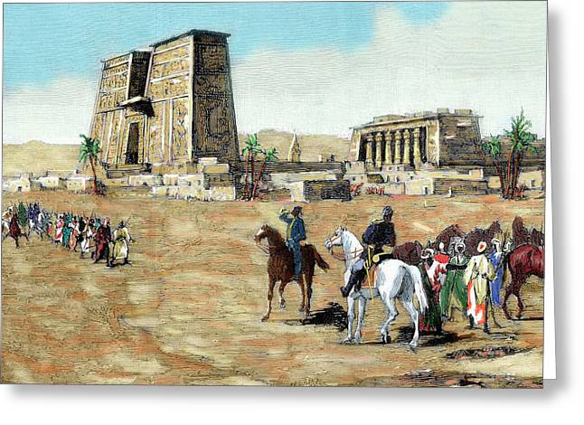 War In Egypt The Emissaries Of Arabi Greeting Card