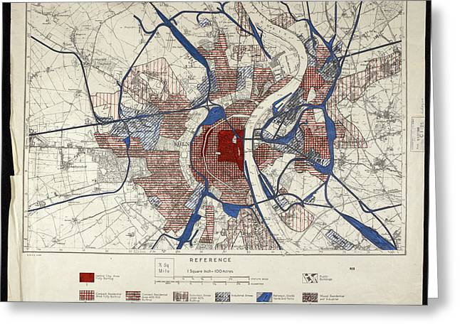 War Map Of Cologne Greeting Card by British Library