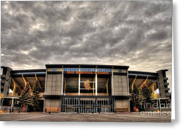 War Memorial Stadium Greeting Card