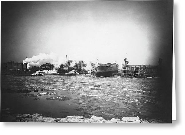 War Nurse Cargo Ship Launch Greeting Card by Hagley Museum And Archive