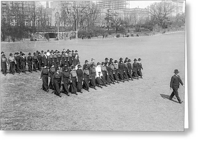 War Nurses Ready To Go Greeting Card